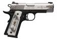 "Browning 051967492 1911-380 Medallion Compact .380 ACP 3.63"" Stainless 8+1 Matte Black White Pearl Engraved Grip - 051967492"
