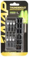 Walkers NAP-ILLN-GR- Thunderglo Illuminated Nock Green 6 Pack - NAP-ILLN-GR-