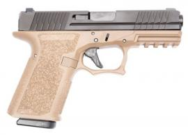 "Polymer80 PFC9CMPFDE PFC9 Compact 9mm 4.02"" 15+1 Flat Dark Earth Black Nitride Stainless Steel Slide Aggressive Textured F - PFC9CMPFDE"