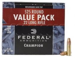 Federal 22 Long Rifle 36 Grain Copper Plated Hollow Point