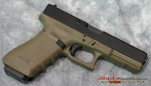 Glock 23 .40 S&W Fixed Sights OD Green 10 Round