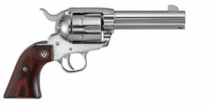 New Vaquero Stainless 5105 45 Colt 6RD Hardwood Stainless Steel - 5105