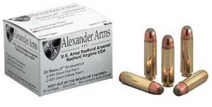 Alexander Arms 50 Beowulf 325 Grain Hollow Point 20/Box