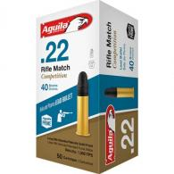 AGUILA MATCH RIFLE COMPETITION 22LR 40GR LEAD 50RD BOX - 1B222518