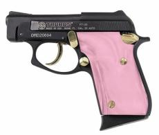 "Taurus PT25 .25acp 2"" Blue/Gold, Pink Pearl grips **SPECIAL O - 1250031PPG"