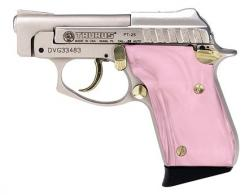 "Taurus PT25 .25acp 2"" Nickel/Gold, Pink Pearl grips **SPECIAL - 1250035PPG"