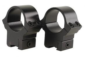 B-Square Medium Aluminum Weaver Style Scope Rings w/Black Fi
