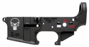 Spikes STLS015-CFA Lower Forged Punisher Multi-Caliber AR Platform Black - STLS015CFA