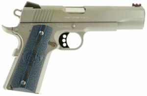 Colt Mfg O1080CCS 1911 Competition Single 45 ACP 5 8+1 Blue G10 Grip Stainless