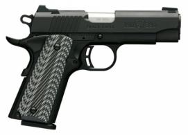 Browning 051910492 1911-380 Single 380 ACP 3.62 8+1 Black/Gray G10 Grip Black - 051910492