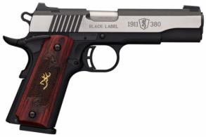 Browning 051912492 1911-380 Single 380 ACP 4.25 8+1 Rosewood w/Gold Buckmark I - 051912492
