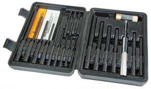 Wheeler 110128 Master Roll Pin Punch Set Gunsmithing Kit