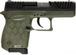 Diamondback Firearms DB9ODG DB9 Double Action 9mm 3 6+1 OD Green Polymer Grip/Frame Grip Black - DB9ODG