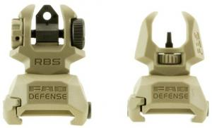 Mako FRBST Flip Up Backup Sight Set AR-15/M4/M16 Picatinny Rail Polymer FDE - 542