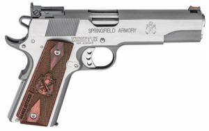 Springfield Armory PI9124L 1911 Single .45 ACP 5 7+1 Cocobolo Grip Stainless St - PI9124L