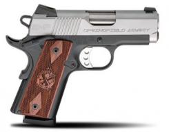 Springfield Armory PI9209L 1911 Single 9mm 3 9+1 Cocobolo Grip Stainless Steel