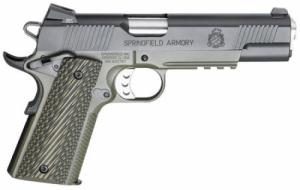 Springfield Armory PX9110ML 1911 Single 45 ACP 5 7+1 OD Green G10 Grip Black A - PX9110ML