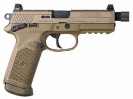 FN HERSTAL 66982 FNX Single/Double Action .45 ACP 5.3 10+1 Flat Dark Earth Interchangeable Backstrap Grip - 66982