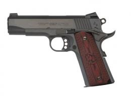 Colt Mfg O4942XE 1911 Single 9mm 4.25 9+1 Black Cherry G10 Grip Blued Carbon S - O4942XE