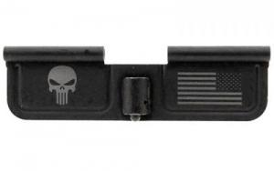 Spikes SED7005 Ejection Port Door AR-15 Laser-Engraved Punisher Steel Black - SED7005