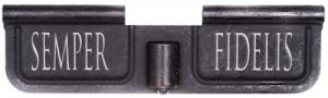 Spike SED7008 Ejection Port Door AR-15 Laser-Engraved Semper Fidelis Steel Blac - SED7008