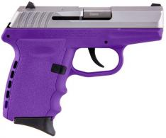"SCCY Industries CPX2TTPU CPX-2 Double Action 9mm 3.1"" 10+1 Purple Polymer Grip/Frame G - CPX2TTPU"