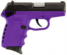 "SCCY Industries CPXICBPU CPX-1 Double 9mm 3.1"" 10+1 Purple Polymer Grip/Frame G"