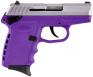 "SCCY Industries CPX1TTPU CPX-1 Double Action 9mm 3.1"" 10+1 Purple Polymer Grip/Frame G - CPX1TTPU"