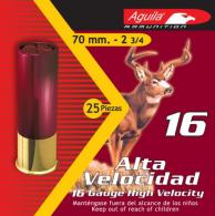 "Aguila 1C1601BA Field High Velocity 16 Gauge 2.75"" 1-1/8 oz 1 Buck 25 Bx/ 10 - 1C1601BA"