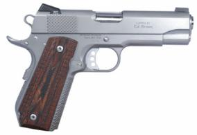 Ed Brown KCSSCAL2 Kobra Single .45 ACP 4.25 7+1 Laminate Wood Grip Stainless - KCSSCAL2
