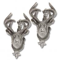 Antique Grey Deer Head Gun/Sword Hangers - CRL47106