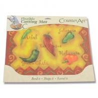 Counter Art Flexible Cutting Mat - Chili Peppers - CAR74575