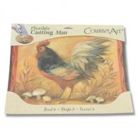 Counter Art Flexible Cutting Mat - Mushroom Rooster - CAR74184