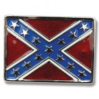 Buckle Shack™ Enameled Rebel Flag Belt Buckle - BSEB2202