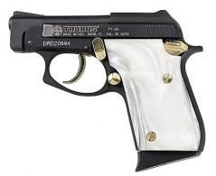 Taurus PT25 .25acp Blue/Gold, Pearl Grips - 1250031PRL