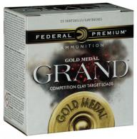 "Federal GMT17875 Gold Medal Grand Target 12 GA 2.75"" 1-1/8 oz 7.5 Round 25 Bx"