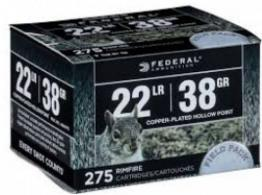 Federal 730 Power-Shok .22 LR  (LR) 38 GR Copper-Plated Hollow Point 275