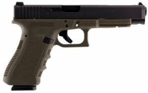 Glock G34 Double 9mm Luger 5.3 10+1 OD Green Grip Black - PI3437101