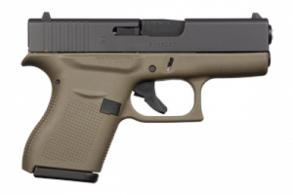 Glock G43 Double Action 9mm 3.39 6+1 OD Green Grip Black - PI4357201