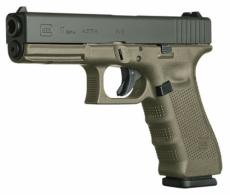 Glock G17 Double Action 9mm 4.48 17+1 OD Green Grip Black - PG1757203
