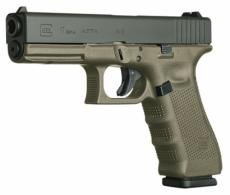 Glock G17 Double Action 9mm 4.48 10+1 OD Green Grip Black - PG1757201