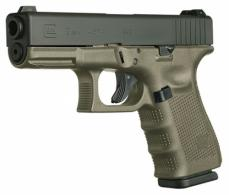 Glock G19 Double 9mm Luger 4.01 10+1 OD Green Grip Black - PG1957201