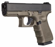 Glock G19 Double 9mm Luger 4.01 15+1 OD Green Grip Black - PG1957203