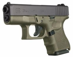 Glock G26 Double 9mm Luger 3.5 10+1 OD Green Grip Black