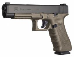 Glock PG3437103MOS G34 Double 9mm Luger 5.3 17+1 OD Green Grip Black - PG3437103MOS