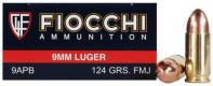 Fiocchi SD Ammo 9mm Luger 124gr FMJ 50/bx
