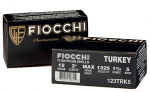 "Fiocchi Turkey 12 Ga. 3 1/2"" 2 3/8 oz, #5 Nickel Plated Lead"