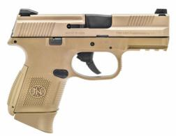 FN 66100113 FNS Double 9mm Luger 3.6 10+1 FDE Interchangeable Backstrap Grip F - 66100113