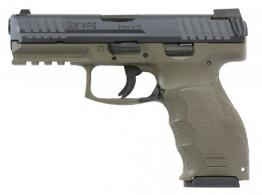 Heckler & Koch (H&K) VP9 DOUBLE 9MM LUGER 4.09 10+1 3 MAGS Night Sights OD GREEN INTERCHANGE - 700009GRLELA5