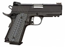 Rock Island Armory 51470 TAC Ultra CS Single .45 ACP 3.5 7+1 Gray G10 Grip Black Parke - 51470